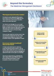 Medicines management dashboard, more info