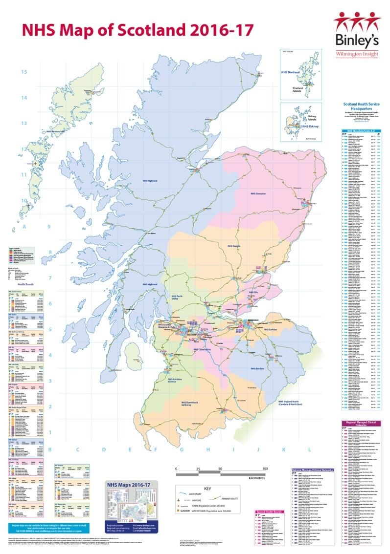 NHS Map of Scotland | Wilmington Healthcare