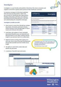 Online Planning Tools - Investigator
